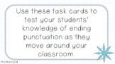 WINTER THEME SENTENCE ENDING PUNCTUATION TASK CARDS