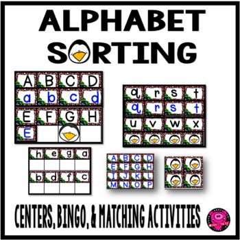 Alphabet Penguin Matching Centers and Activities with Bingo