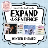 WINTER THEMED Expand-A-Sentence Photo Cards for Speech and