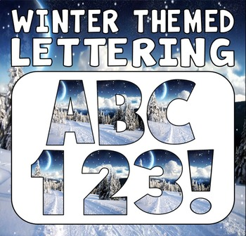 WINTER THEMED LETTERS, NUMBERS AND PUNCTUATION - DISPLAY LETTERING SEASON