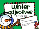SCOOT WINTER Theme Adjective Game task cards meets common core, centers