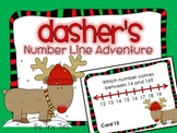 SCOOT WINTER Theme Dasher's Number Line Adventure Game task cards CC, centers