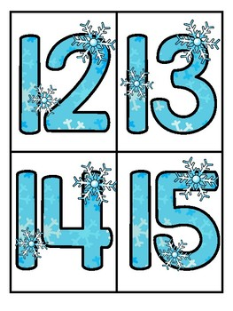 WINTER Theme Large Numbers 0-20 - Make Activities and Room Decor