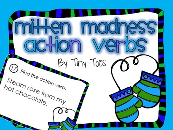SCOOT WINTER Theme Mitten Madness Action Verb Game task ca