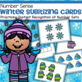 WINTER Theme Subitizing Cards - Practicing Instant Recognition Number Sets 0-10