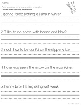 Sentence Editing / Winter