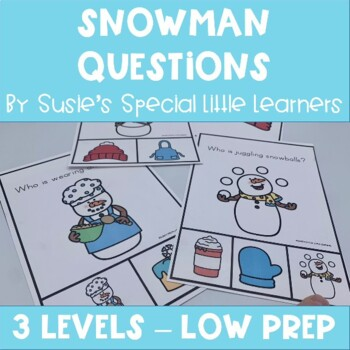 SNOWMAN VISUAL WHAT QUESTIONS FOR AUTISM AND SPECIAL ED