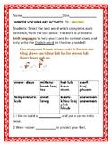 WINTER VOCABULARY ACTIVITY:ESL: HMONG