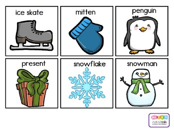 WINTER VOCABULARY CARDS