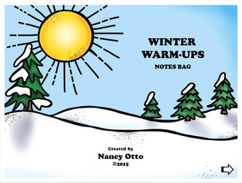 Winter Warm-Ups:  Notes BAG