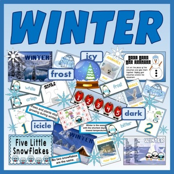 WINTER - WEATHER SEASONS DISPLAY CHILDMINDER EYFS KS 1-2
