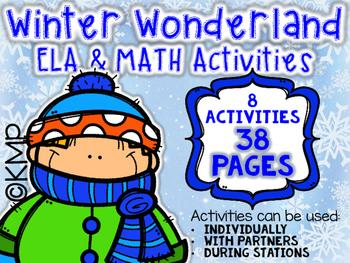 WINTER WONDERLAND ELA & MATH (Station) Activities
