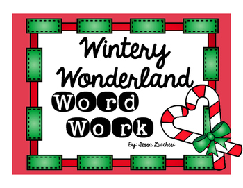 WINTER WONDERLAND WORD WORK CENTERS