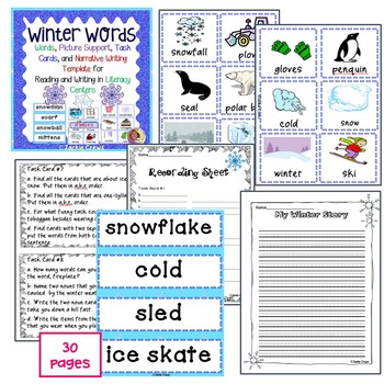 WINTER WRITING LITERACY BUNDLE