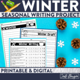 Winter Writing Activity Craftivity Papers and Prompts Bull