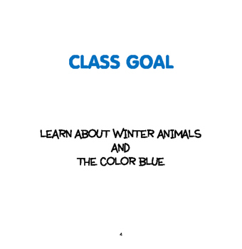 WINTER: Winter Animals and Color Blue - Weekly Thematic Unit for toddlers/Pre-K