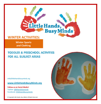 WINTER: Winter Sports and Clothing - Weekly Thematic Unit for toddlers/Pre-K