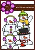 WINTER and SNOWMAN Digital Clipart (color and black&white)