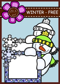 WINTER_MESSAGEBOARD_FREE Digital Clipart (color and black&white)