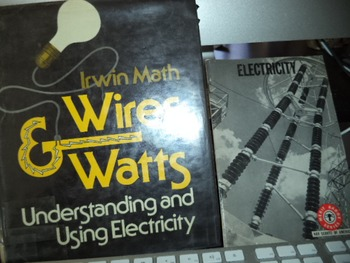 WIRES AND WATTS      ELECTRICITY    (SET OF 2)