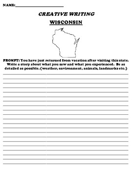WISCONSIN CREATIVE WRITING  DIFFERENTIATED WORKSHEET