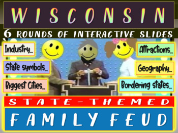 WISCONSIN FAMILY FEUD! Engaging game about cities, geography, industry & more