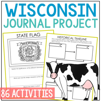WISCONSIN History Guided Research Project, Notebook Journal Pages {EDITABLE}