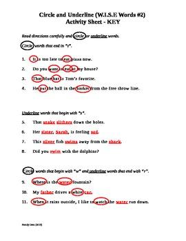 Academic Vocabulary - W.I.S.E. Words