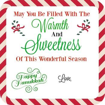 WISHING YOU WARMTH AND SWEETNESS HANUKKAH TAG