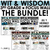 WIT & WISDOM - 3rd Grade Focus Wall BUNDLE! (Full Page)