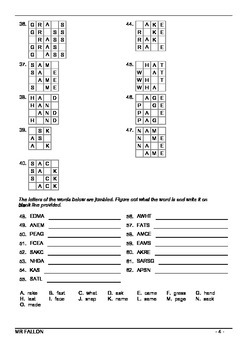 Words Their Way workbook - Within word pattern sort 7 (Short and Long A)