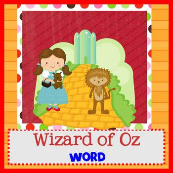 WIZARD OF OZ - Newsletter Template WORD