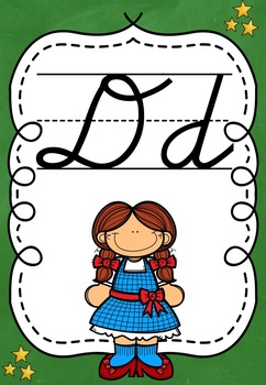 WIZARD OF OZ THEMED CURSIVE ALPHABET POSTERS