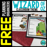 WIZARD OF OZ Theme Decor Planner by Clutter Free Classroom