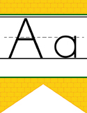 DOROTHY & OZ - Alphabet Banner, handwriting, A to Z, ABC print font