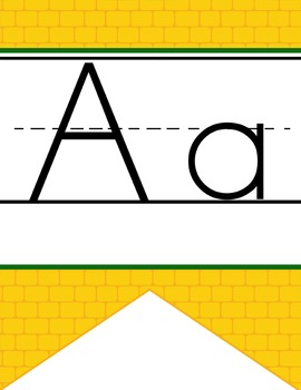 DOROTHY & OZ - Alphabet Banner, handwriting, A to Z, ABC print font