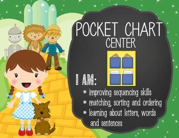 DOROTHY & OZ - Classroom Decor: Center Signs, student cards