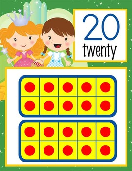 WIZARD of OZ - Number Line Banner, 0 to 20, Illustrated