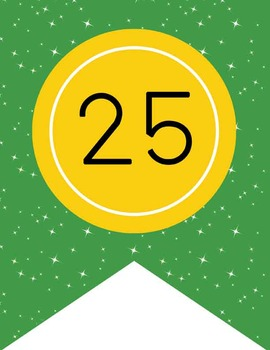 DOROTHY & OZ - Number Line Banner, 1 to 25, EDITABLE to continue