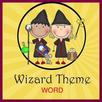 WIZARDS HARRY POTTER theme - Newsletter Template - Word