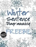 Winter Sentence Diagramming FREEBIE
