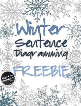 Winter Sentence Diagramming FREEBIE