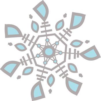 Winter Snowflake Clip Art Package