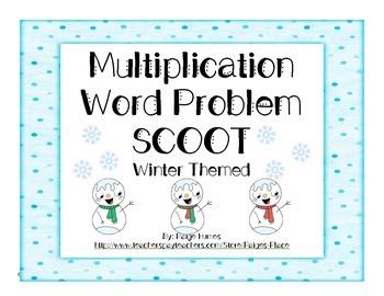 Multiplication Word Problem SCOOT Winter Theme