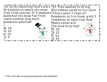 Multiplication Word Problem SCOOT Winter Theme