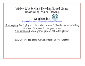 Winter Wonderland Blending Board Game