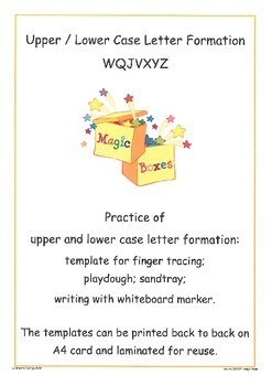 WJQVXYZ Letter Formation Cards