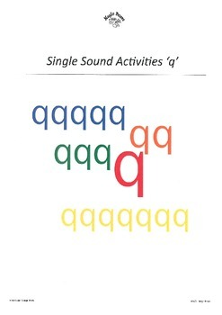 WJQVXYZ Alphabet Sounds 'q'