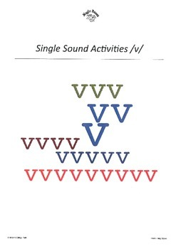 WJQVXYZ Alphabet Sounds /v/