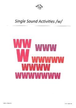WJQVXYZ Alphabet Sounds /w/